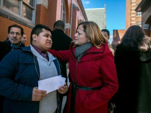 Council Speaker Melissa Mark-Viverito, right.