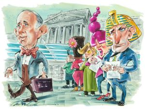 Arnold Lehman is set to retire from his post as director of the Brooklyn Museum in 2015. (Illustration by Russ Tudor)