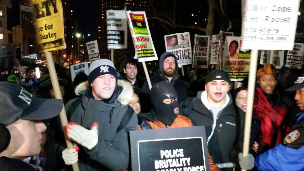 Collision on Broadway: Eric Garner and Pro-Cop Protesters Clash Near City Hall