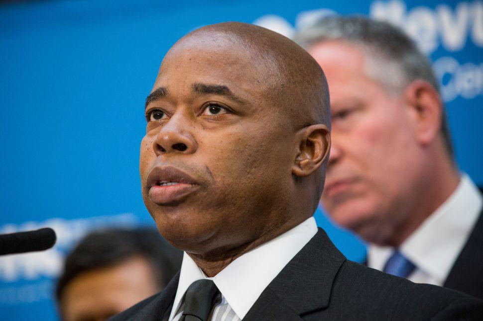 Ex-Cop Brooklyn BP Eric Adams: 'I Did Not Elect the PBA, I Elected the Mayor'