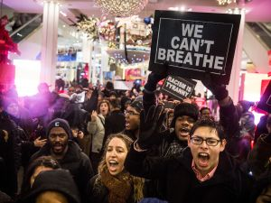 Protests over the Eric Garner case last year. (Photo: Getty/ Andrew Burton)