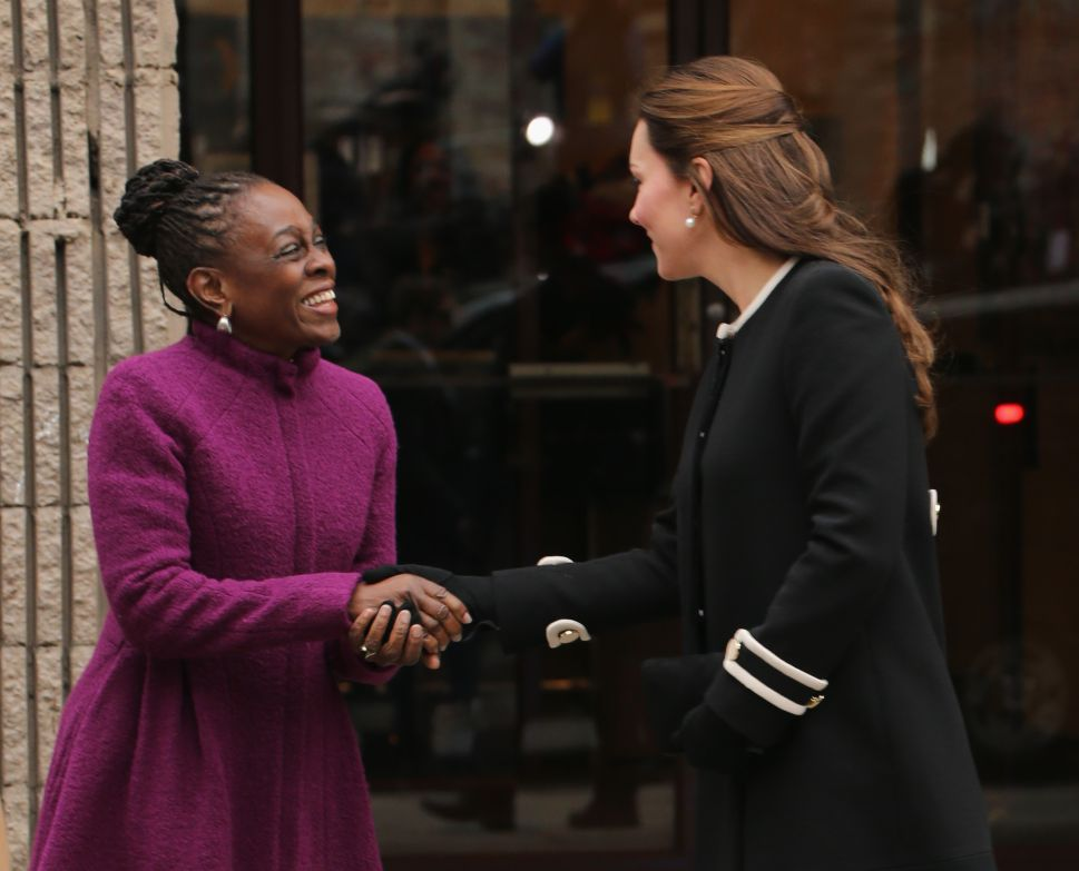 Kate Middleton Wears Black and White Mod-Inspired Coat to Meet Chirlane McCray