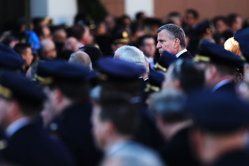Bill de Blasio Moves to Name Streets After Murdered NYPD Officers