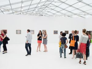 The scene at Frieze New York last year. (Photo by Michael Stewart/Getty Images)