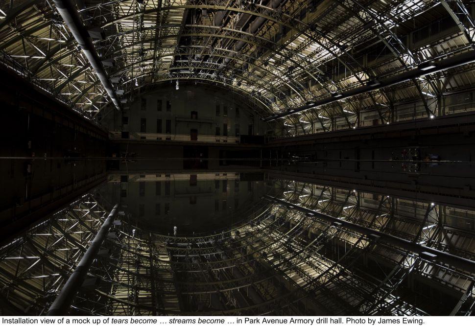 Turner Prize-Winner Douglas Gordon Gets Wet at the Armory