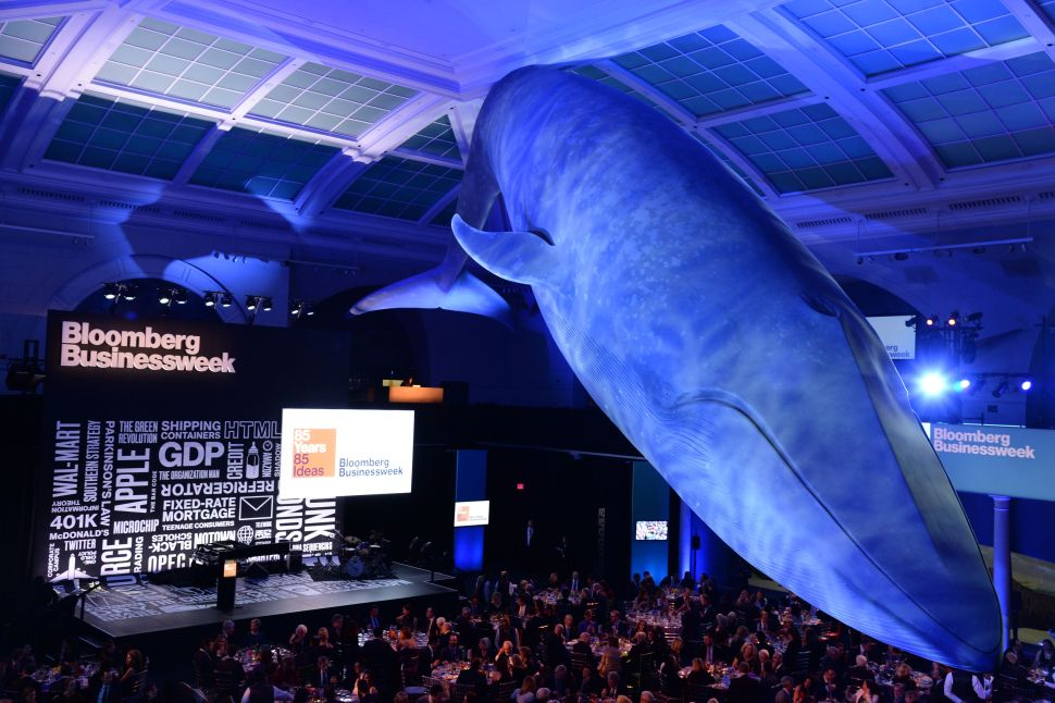 Bloomberg Celebrated 85 Years of Businessweek Under the Great Whale