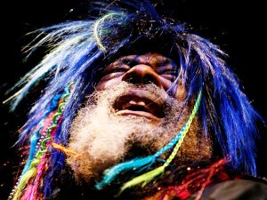 George Clinton and Parliament Funkadelic perform during the 2009 Voodoo Experience at City Park on October 31, 2009 in New Orleans, Louisiana. (Photo by Sean Gardner/Getty Images.)
