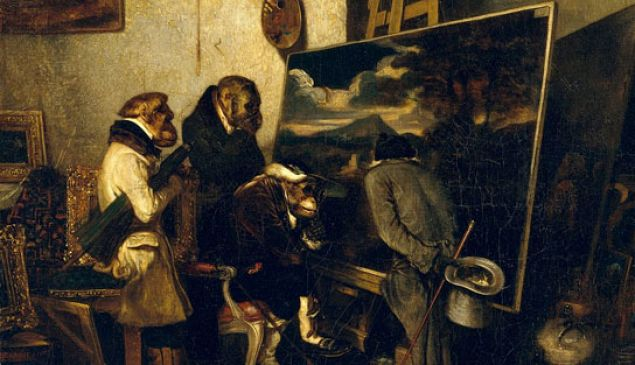 Alexandre-Gabriel Decamps' 1837 The Experts, an answer to his art critics.