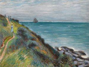 Alfred Sisley, The Cliffs at Landland Bay Wales, 1897, (Courtesy Stephen Ongpin)