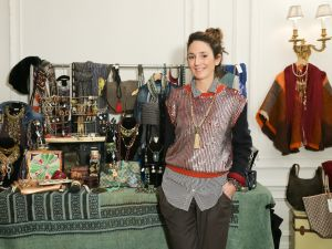 Ms. Wolffer in her Upper East Side pop-up shop. (Photo via BFA)