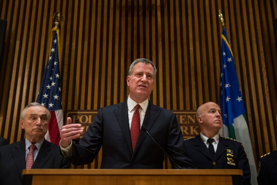 After Police Murders, de Blasio Says 'Leaders Have to Rise Above the Fray'