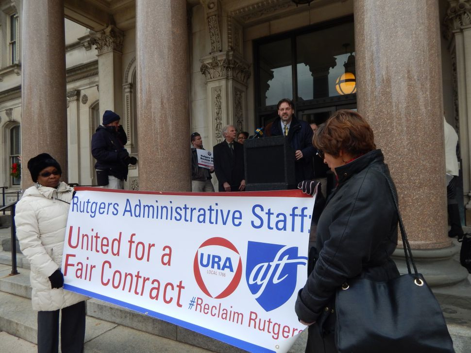 Rutgers faculty, lawmakers rally for fair contract negotiations