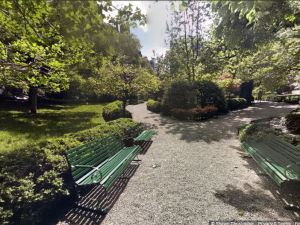 The once off-limits Gramercy Park is now open to the public via Google Maps Street View (screenshot via Google Maps).