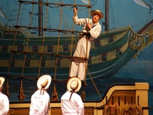 Tenor Cameron Smith in The New York Gilbert & Sullivan Players' production of H.M.S. Pinafore at NYU's Skirball Center for the Performing Arts. (Photo by William Reynolds.)
