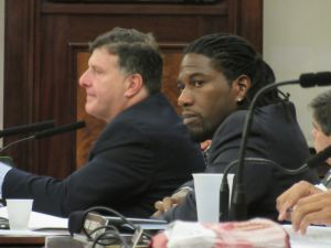 Councilman Jumaane Williams, right, with Zoning and Franchises Subcomittee Chairman Mark Weprin (Photo: Will Bredderman).