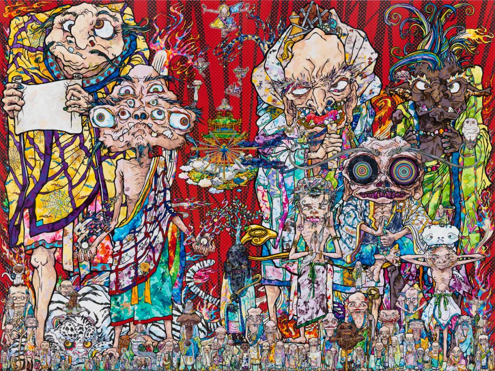 Absurd on a Grand Scale: The Lunatic Splendor of Murakami Takes Over Gagosian Gallery
