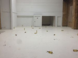 Cigarettes and bottles by Dan Colen, in Walter de Maria's former studio. (Photo by Nate Freeman)