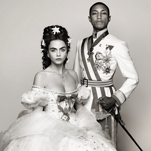 Cara Delevingne & Pharrell Debut New Song, Channel Austrian Royalty in Chanel Short