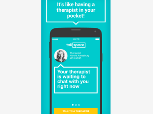 Talkspace is now available in the Google Play Store. (Google Play Store)