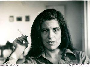 Susan Sontag shot in her New York City apartment by Jill Krementz, November, 18, 1974.