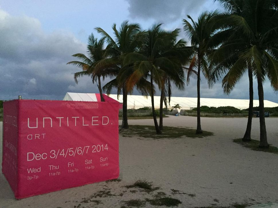 A Bigger Tent on the Sand Sets South Beach's UNTITLED. Art Fair Apart