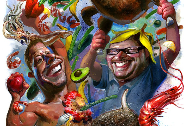 Dine-O-Fight! Dueling Foodies Stein and Ozersky Carve Up the Best Eats of 2014