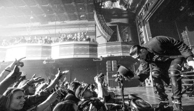 G-Eazy bows to the crowd at Webster Hall. (Photo by Bobby Bruderle)