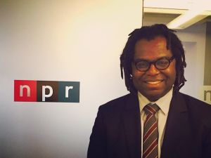 The author makes the rounds to promote his stunning debut, 'God Loves Haiti.' (Facebook)