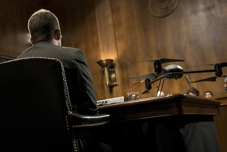 Drone Literally Crashes Congressional Hearing