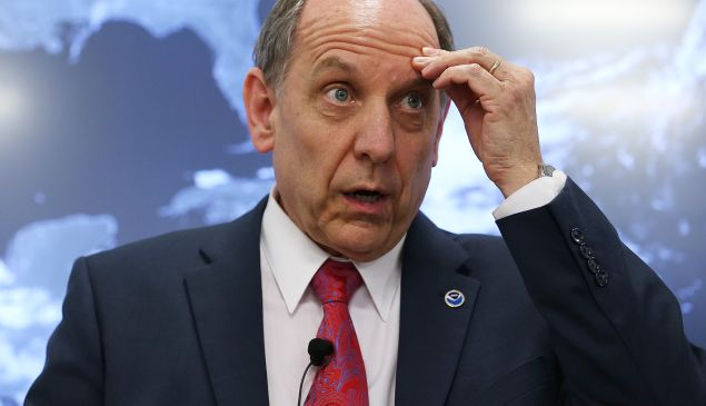 Louis Uccellini held a press conference to explain how the NWS could do better. (Photo: Mark Wilson/Getty)
