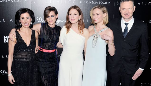 Lisa Genova, Kristen Stewart, Julianne Moore, Kate Bosworth and Wash Westmoreland. (Photo: Patrick McMullan)
