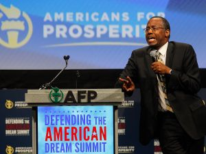 Dr. Ben Carson has announced his candidacy for President. (Photo by Mike Stone/Getty Images)