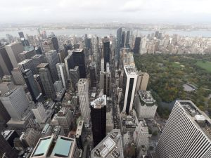 A view of New York City from the 75th floor of 432 Park Avenue on October 15, 2104, the day after it earned the distinction of being the country's tallest residential skyscraper. As the economy struggles in Russia, Russian buyers of US real estate are suddenly squirming out of contracts to buy or even—gasp—renting out their units.