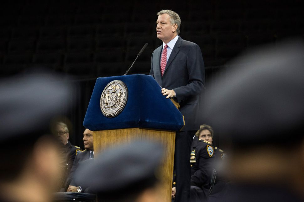 Bill de Blasio Does Not Think Police Protests Will Stop DNC From Coming to NYC