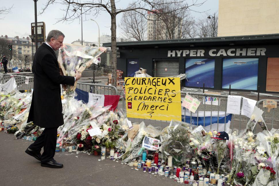 De Blasio Won't Knock Obama for Skipping Paris After Charlie Hebdo Attack