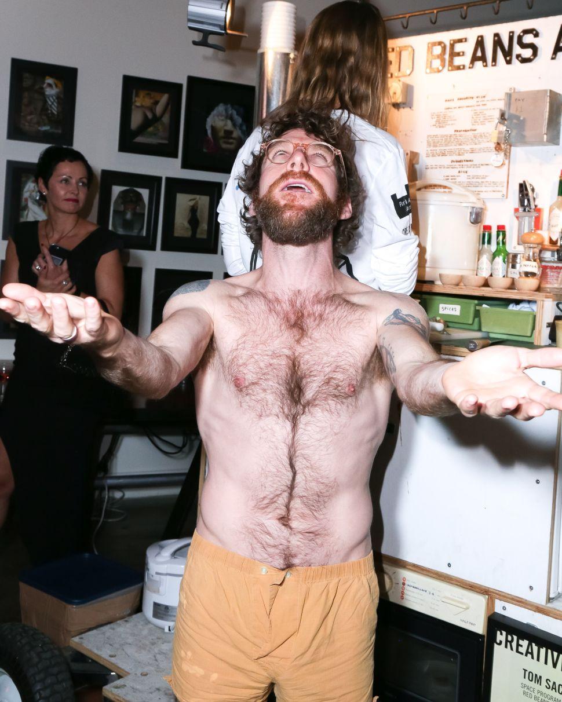 Dustin Yellin Gets Naked—Again!—For 'Z Behl: Joker's Solitaire' (NSFW)