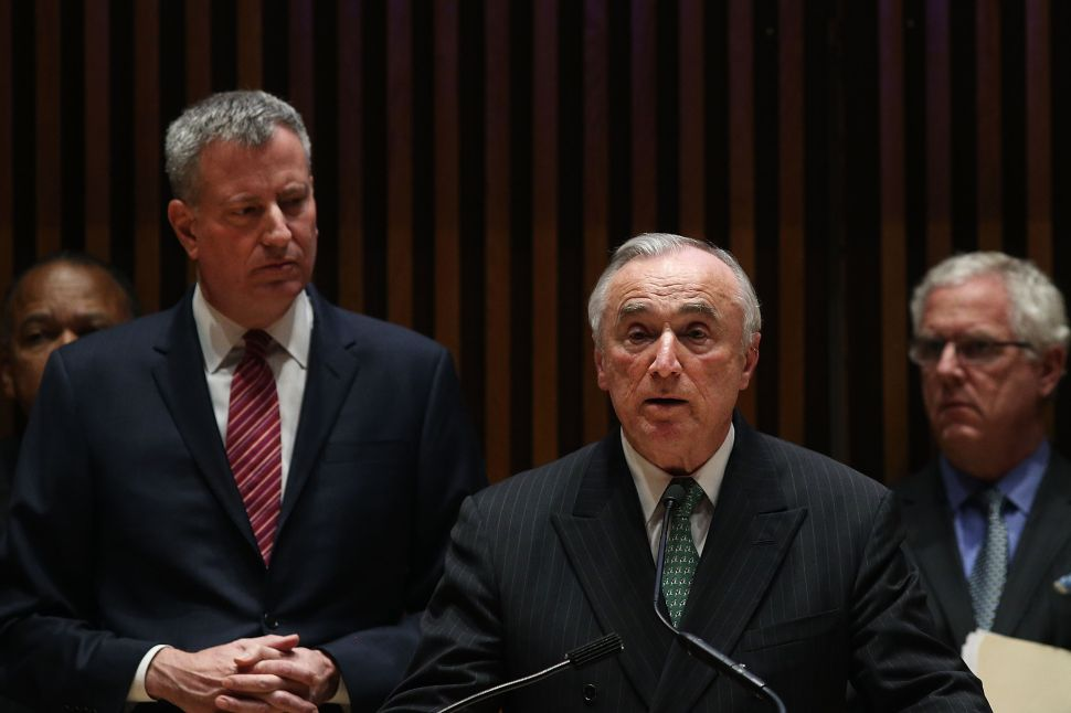 Bill de Blasio Is 'Comfortable' With Bill Bratton Being Blunt