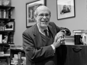 Harold Holzer, in his office surrounded by his collection of Lincoln memorabilia, will retire from the Met this summer. (Photo by Jackie Neale Chadwick, courtesy Metropolitan Museum of Art)