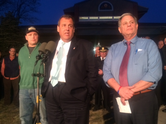 "Christie at Edgewater fire scene: ""I'm here to make sure"" displaced not forgotten"