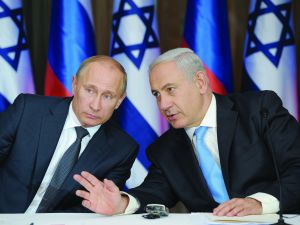 Russia's President Vladimir Putin and Israeli Prime Minister Benjamin Netanyahu (ALEXEY DRUZHININ/AFP/Getty Images)