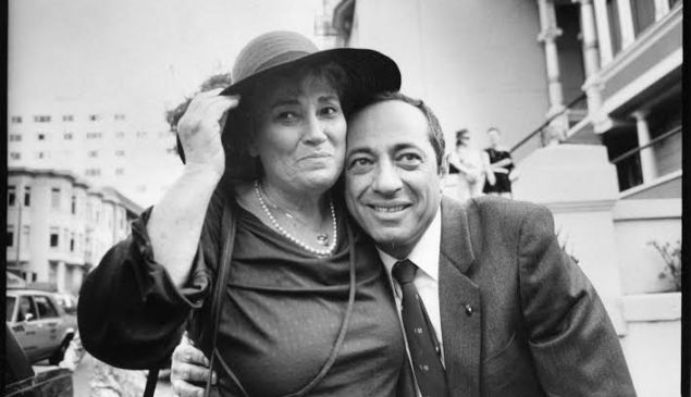 Governor Mario Cuomo and former Congresswoman Bella Abzug photographed by Jill Krementz on July 15, 1984.