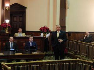 Sweeney at Friday night's Gloucester County freeholder board swearing-in.