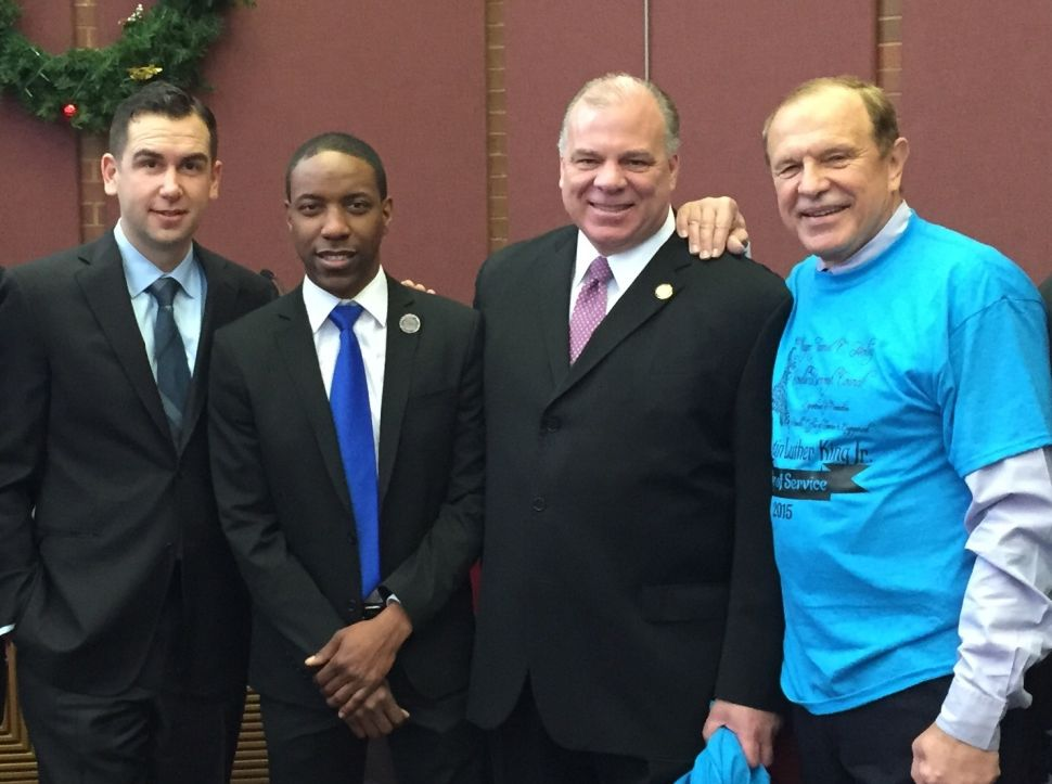 MLK Day in Roselle with Fulop and Sweeney