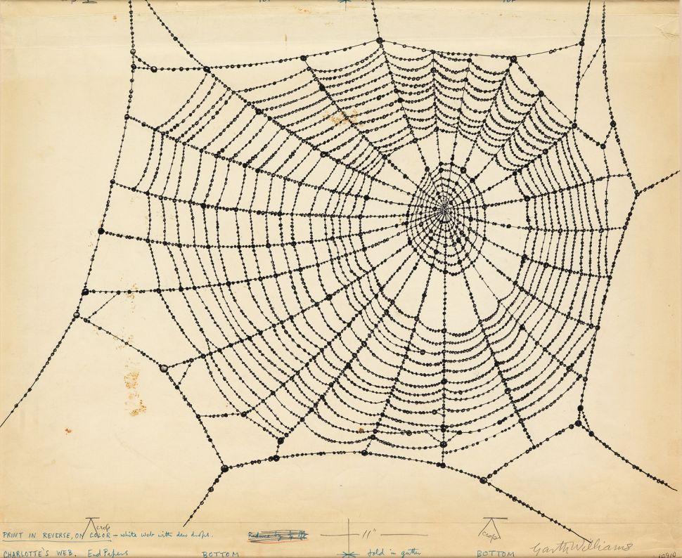 Art of Children's Story 'Charlotte's Web' on the Block