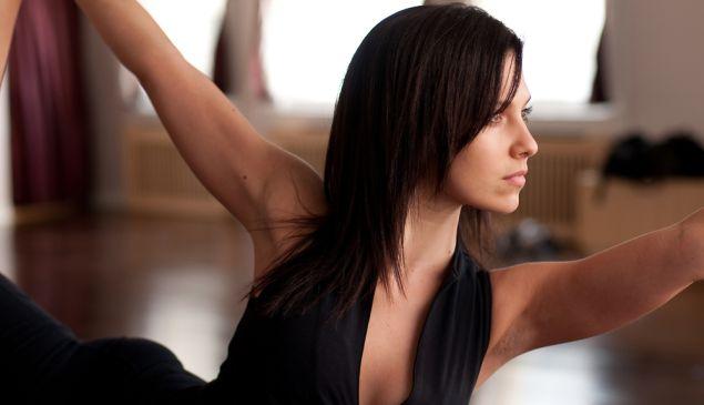 Hilaria Baldwin was at one point teaching 36 yoga classes per week. (Photo via Ms. Baldwin)