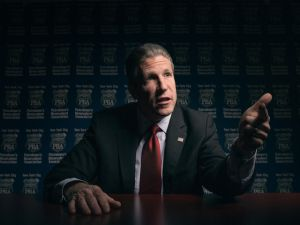 Patrolmen's Benevolent Association President Patrick Lynch. (Photo: Alex Jones/New York Observer)