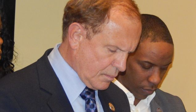 Lesniak, left, and Holley.