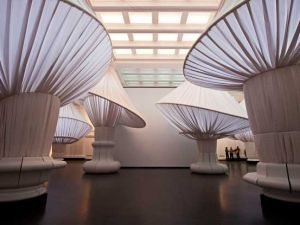 "Situ Studio (2005–present), Brooklyn. ""reOrder"" in the Brooklyn Museum's Great Hall. (Image courtesy of Keith Sirchio and Brooklyn Musuem)"