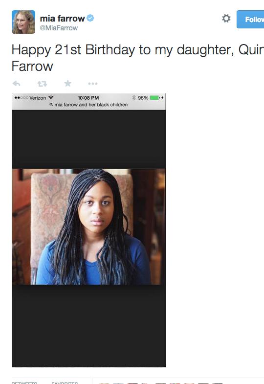 Mia Farrow found family pics by Googling 'Mia Farrow & Her Black Children'