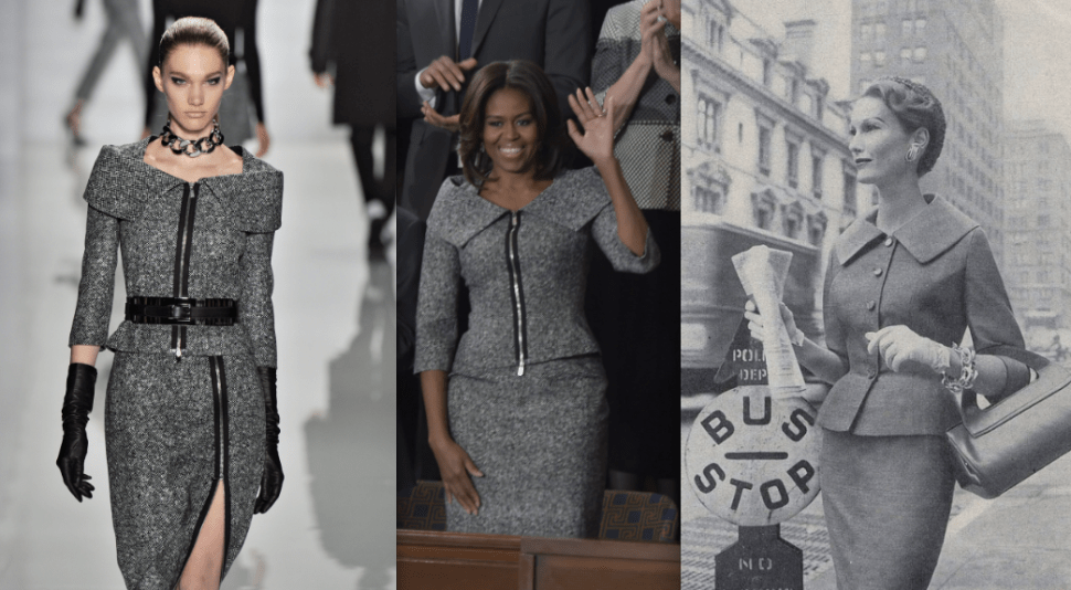 Michelle Obama Wears Grey Michael Kors Suit to State of the Union Address